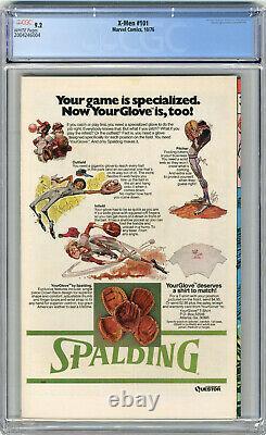 1976 X-Men 101 CGC 9.2 1st Phoenix White Pages