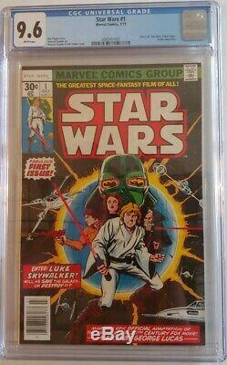 1977 Marvel Star Wars #1 CGC 9.6 WHITE PAGES PRISTINE SLAB