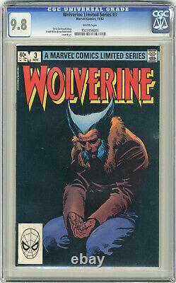 1982 Wolverine Limited Series 1-4 CGC 9.8 Vol. 1 White Pages