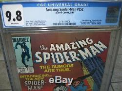 AMAZING SPIDER-MAN # 252 Newsstand Edition CGC Graded 9.8 White Pages
