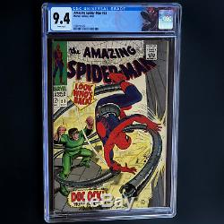 AMAZING SPIDER-MAN #53 (1967) CGC 9.4 WHITE PGs CLASSIC DR OCTOPUS COVER