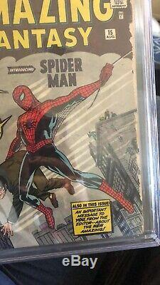 Amazing Fantasy #15 CGC 2.0 First Appearance Of Spider-man EVER! OFF-WHITE PAGES