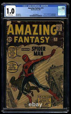 Amazing Fantasy #15 CGC Fair 1.0 Off White 1st Spider-Man
