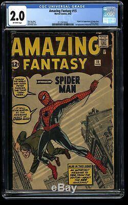 Amazing Fantasy #15 CGC GD 2.0 Off White 1st Spider-Man