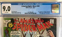 Amazing Spider-Man 101 CGC 9.0 Marvel 1971 1st MORBIUS MOVIE! White pages