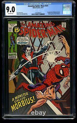 Amazing Spider-Man #101 CGC VF/NM 9.0 Off White 1st Morbius
