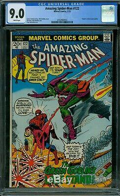 Amazing Spider-Man 122 CGC 9.0 White Pages