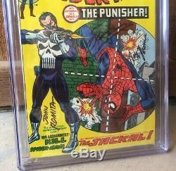 Amazing Spider-Man 129 CGC 8.0 1st Punisher SSx3 John Romita, Thomas, Conway White
