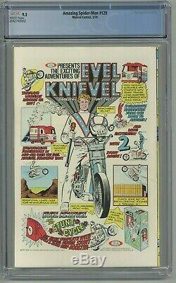 Amazing Spider-Man #129 CGC 9.2 White Pages 1st app Punisher Key Issue 1974