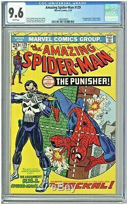 Amazing Spider-Man #129 CGC 9.6 White Pages 1st app Punisher Key 1974 Bronze