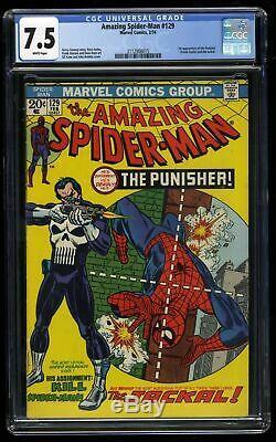 Amazing Spider-Man #129 CGC VF- 7.5 White Pages 1st Punisher