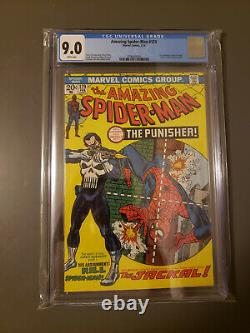 Amazing Spider-Man #129 CGC VF/NM 9.0 White Pages! 1st Punisher