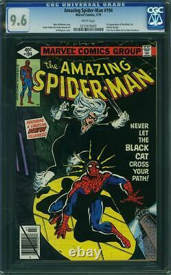 Amazing Spider-Man #194 CGC 9.6 white pages 1st Black Cat appearance 300