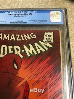 Amazing Spider-Man (1st Series) #50 1967 CGC 6.0 White Pages