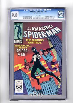 Amazing Spider-Man 252 CGC 9.8 White Pages Marvel 1984 1st Black Suit Venom