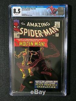 Amazing Spider-Man #28 CGC 8.5 (1965) Org & 1st app Molten Man WHITE PAGES