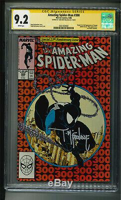 Amazing Spider-Man 300 (1st Venom) SS CGC 9.2 White Pages & signed by Mcfarlane