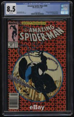 Amazing Spider-Man #300 CGC 8.5 White Pgs 1st Appearance Venom Newstand
