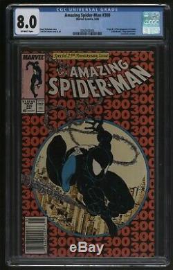 Amazing Spider-Man 300 Marvel Comics CGC VFN Great off white pages Venom origin