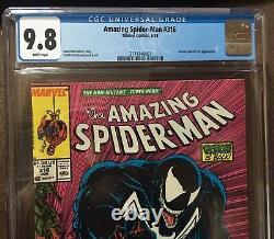 Amazing Spider-Man #316 CGC cgc 9.8 WHITE pages 1st Venom Cover NEWSSTAND