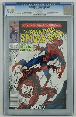 Amazing Spider-Man #361 CGC 9.8 1st full Carnage white pages newsstand variant