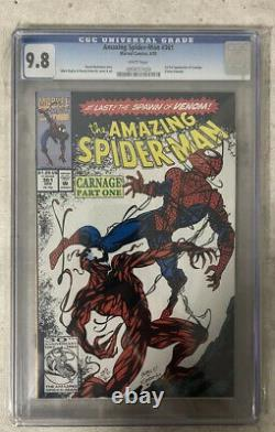 Amazing Spider-Man #361 CGC 9.8 White 1st Appearance Of Carnage Marvel Sony MCU