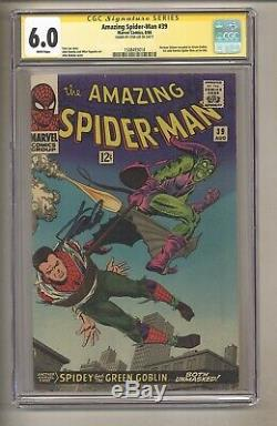 Amazing Spider-Man 39 (CGC Signature Series 6.0) White Pages Stan Lee! (j# 127)