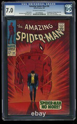 Amazing Spider-Man #50 CGC FN/VF 7.0 Off White to White 1st Kingpin