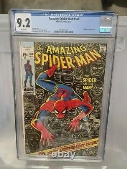 Amazing Spider-man #100 Cgc 9.2 White Pages