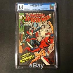 Amazing Spider-man #101 Cgc 1.8 1st Morbius Off-white Pages 1971