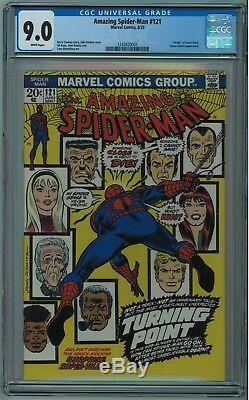 Amazing Spider-man #121 Cgc 9.0 Death Of Gwen Stacy High Grade White Pgs 1973