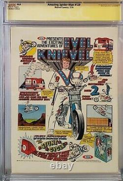 Amazing Spider-man #129 Cgc 8.5 Ss Signed John Romita 1st Punisher White Pages
