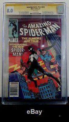 Amazing Spider-man #252 Cgc 8.0 Ss Signed Stan Lee 1st Black Costume White Pages