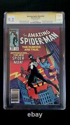 Amazing Spider-man #252 Cgc 9.2 Ss Signed Stan Lee White Pages Newsstand Venom