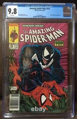 Amazing Spider-man #316 CGC 9.8 White pages 1st Venom Cover NEWSSTAND rare