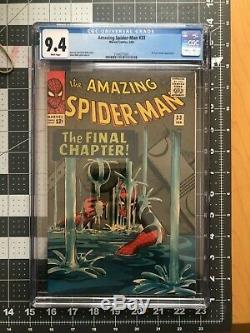 Amazing Spider-man 33 CGC 9.4 WHITE PAGES Dr. Curt Connors appearance