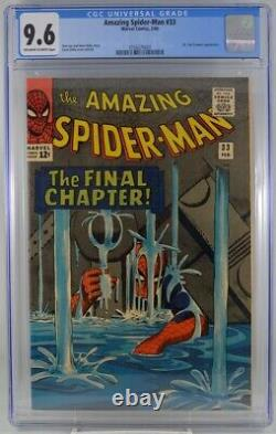 Amazing Spider-man #33 CGC 9.6 Classic Ditko Cover Off White White pages 1966
