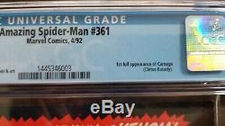 Amazing Spider-man #361 1st Carnage Cgc 9.8 Mint White Pgs Venom 2