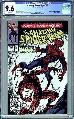 Amazing Spider-man #361 Cgc 9.6 Nm + 1st Appearance Carnage, White Pages Marvel