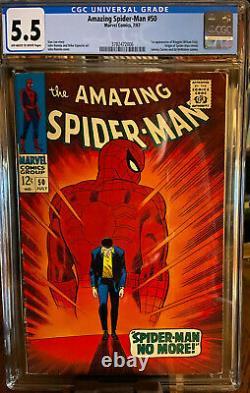 Amazing Spider-man #50 1st App Kingpin Origin Retold Off-white To White Cgc 5.5