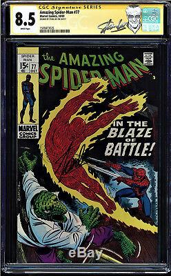 Amazing Spider-man #77 Cgc 8.5 White Ss Stan Lee Signed Cgc #1508473025