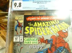 Amazing Spiderman 361 Cgc 9.8 2nd Print White Pages 1st Full Carnage