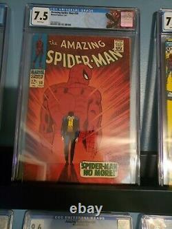 Amazing spiderman 50 cgc 7.5 white pages, custom label