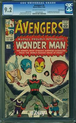 Avengers (1st Series) #9 1964 CGC 9.2 White Mountain 0951420003