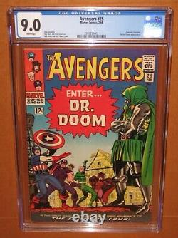 Avengers #25 CGC 9.0 WHITE pages! A CGC TOP 100 copy! 12 pix Ships fully INSURED