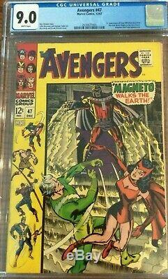 Avengers # 47 Cgc 9.0 White Pages Dane Whitman 48 Black Knight! Eternals
