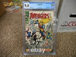 Avengers 48 cgc 9.4 1st appearance of Black Knight WHITE pgs BEAUTIFUL NM movie