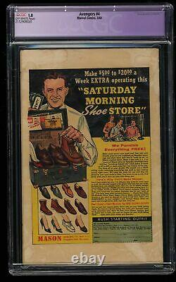Avengers #4 CGC GD- 1.8 Off White 1st Silver Age Captain America
