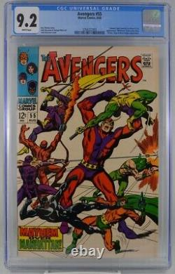 Avengers #55 CGC 9.2 White Pages 1st Ultron Appearance 1968