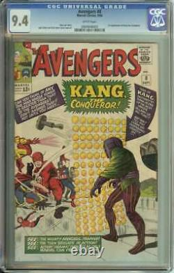 Avengers #8 Cgc 9.4 White Pages // 1st Appearance Of Kang The Conqueror